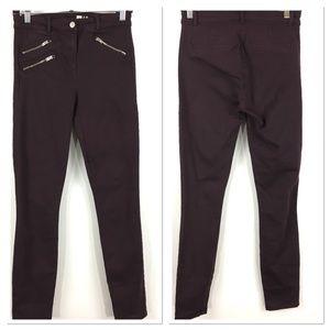 Gap modern stretch skinny jeans plum sz 4 R